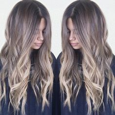 Casual, Messy Long Hairstyle - Ombre Balayage Hairstyles - The Right Hair Styles Brown Balayage, Hair Color Balayage, Ombre Balayage, Caramel Balayage, Bayalage, Hair Color And Cut, Brown Hair Colors, Hair Colour, Ombré Hair