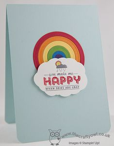 You Make Me Happy Rainbow Big Shot, Circles Framelits, See Ya Later, Sale-A-Bration 2014, Joanne James UK Stampin' Up! Independent Demonstrator, blog.thecraftyowl.co.uk