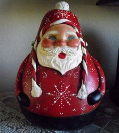 Jolly SAnta Gourdthis is adorable, but I don't know who the artist is to give credit