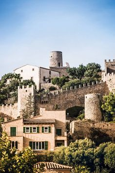 Ancient stone crenellations in the old Spanish town of Capdepera in Majorca / Mallorca, Spain Oh The Places You'll Go, Places To Travel, Places To Visit, Travel Around The World, Around The Worlds, Mallorca Island, East Coast Beaches, Costa, Spanish Towns