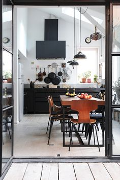Kitchen:Industrial Kitchen Design With Nice Cabinets Sets Industrial Kitchen Interior Design Ideas Image 151 Industrial Kitchen Design, Industrial House, Industrial Interiors, Modern Industrial, Interior Design Kitchen, Industrial Furniture, Industrial Apartment, Industrial Kitchens, Industrial Farmhouse