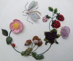 Dragonfly Wreath Stumpwork Kit by lornabateman22 on Etsy, $46.95