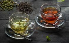 Download wallpapers Green tea, drinks, black tea, cup of tea