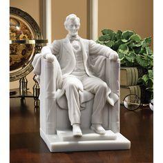 Abraham Lincoln Memorial Bonded Marble Resin Figurine