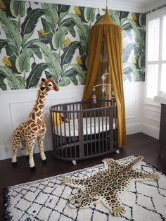 Baby Girl Nursery Room İdeas 325877723036569792 - Leopard rug is from Cotswold trading Source by Baby Nursery Decor, Nursery Neutral, Baby Decor, Nursery Room, Girl Nursery, Jungle Nursery Boy, Leopard Nursery, Jungle Room, Themed Nursery