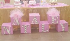 Simple, budget-friendly baby shower ideas for girls - block letters - . - Simple, budget-friendly baby shower ideas for girls – block letters – shower lette - Baby Shower Decorations For Boys, Baby Shower Centerpieces, Birthday Party Decorations, Baby Decor, Birthday Parties, Baby Boy Shower, Baby Shower Gifts, Deco Rose, Baby Shower Princess