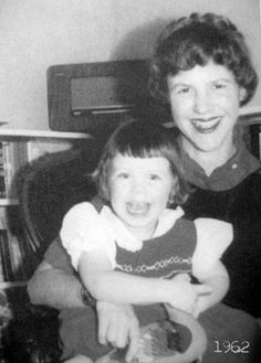 Sylvia Plath with Frieda, 1962.
