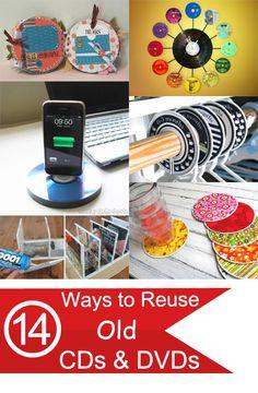 14 Ways to Reuse Old CDs DVDs