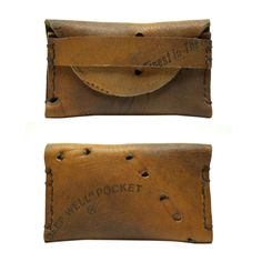 Awesome idea for a wallet.  Repurposed old baseball glove into cardholder.