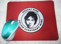 Bruce Springsteen  mouse pad, red, unique, Darkness at the Edge of Town, handmade, gift, inspirational quote - pinned by pin4etsy.com