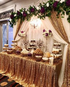 Wedding decorations - Paris theme Sweet 16 event at the Palace Banquet Hall in San Pedro by events Candy Dessert Table by and macaroons… Quince Decorations, Quinceanera Decorations, Quinceanera Party, Quinceanera Dresses, Diy Sweet 16 Decorations, Sweet 16 Birthday, Birthday Parties, Birthday Ideas, Golden Birthday