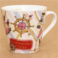 white striped Sentimental Circus cup rabbit steering wheel #maritime #sailor