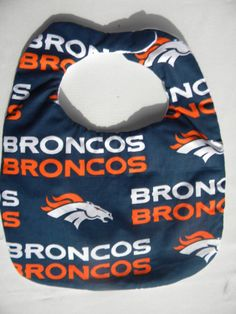 Hand Crafted Denver Broncos NFL Baby Bib by HikerJohnson on Etsy, $9.00