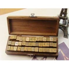Box of letters (stamps)