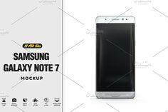 Samsung Galaxy Note 7 Mockup by PixelMockup on @creativemarket
