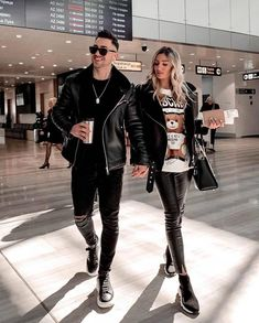 visit our website for the latest men's fashion trends tips and advices . Matching Couple Outfits, Matching Couples, Cute Couples, Casual Outfits, Cute Outfits, Fashion Outfits, Mens Fashion, Fashion Trends, Leather Jacket Outfits