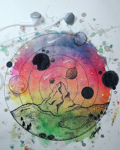 Colorful galaxy drawing