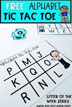 Kindergarten and Mooneyisms: Free Alphabet Tic Tac Toe