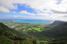 view of waimanalo from Kuliouou Trail