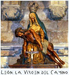 Nuestra Señora del Camino de León / 2 de Julio / Año: 1505 / Lugar: Velilla de la Reina, León, España / Aparición de la Virgen a Alvar Simón Gómez Fernández.