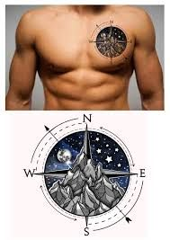 Image result for mens side tattoo mountain