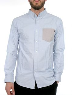 Rushmore Oxford Buttondown Shirt for men by Huf 100% Cotton Model is wearing a size Medium