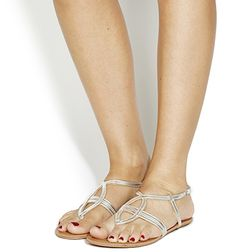 Office Believe Strappy Sandals Silver - Sandals
