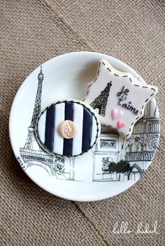 Parisian Bridal Shower cookies