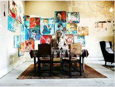 Australian artist David Bromley's Prahran studio via Empty Fashion blog