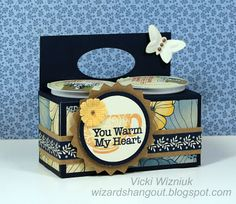 a K-Cup Caddie for anyone who owns a Keurig, by Vicki Wizniuk using CTMH Pemberley paper