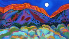 """Tracy Turner Sheppard: """"Moonrise in the Gorge"""""""
