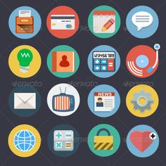 Flat Icons for Web and Applications Set 2 — JPG Image #tv #lock • Available here → https://graphicriver.net/item/flat-icons-for-web-and-applications-set-2/7469307?ref=pxcr