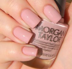 Morgan Taylor - Luxe To Be a Lady *Currently on my toes and obssesed with this clean and polished color