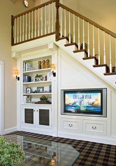 Shelves Under Stairs on Pinterest