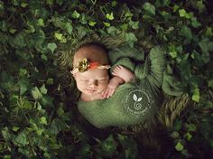 When the weather outside is frightful, its time to bring nature into the studio.   And of course, her name is Ivy, 13 days old