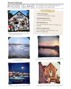 Summer Getaway: Narragansett, Rhode Island - From the Desk of Ann