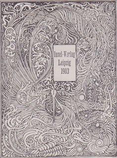 Book cover by Heinrich Vogeler, 1903 Zentangle, Heinrich Vogeler, Art Nouveau, Art Deco, Flower Art Drawing, Jugendstil Design, World Map Art, Illustrations, Science Art