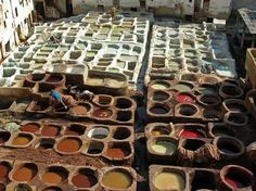 Fes, Morocco -  the old capital city where the Leather Souq is thought to be the oldest leather tannery in the world