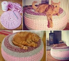 Crochet ottoman