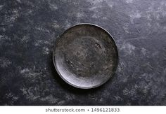 Black Plate On Black Stone Background Stock Photo (Edit Now) 1729030255 Room Inspiration, Empty, Photo Editing, Royalty Free Stock Photos, Plates, Stone, Dark, Pictures, Image