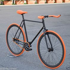 FIXED-BIKE-SINGLE-SPEED-BICI-SINGLE-SPEED-BICI-SCATTO-FISSO-1V-ARANCIO-NERO