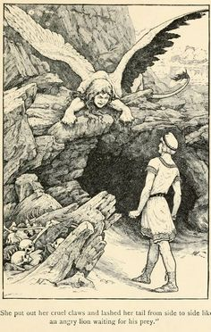 Oedipus and the Sphinx, by Frank C. Pape
