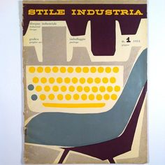 "Cover designed by Albe Steiner ""Stile Industria"", issue No.1, 1954."