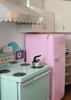 Pastel vintage appliances.