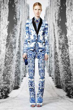 roberto cavalli resort 2013 printed blazer