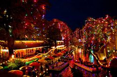San Antonio River Walk at Christmas