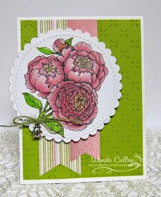 Wanda Cullen: Cullen-ary Creations: Power Poppy Peonies  7/21/14 (Power Poppy stamps)
