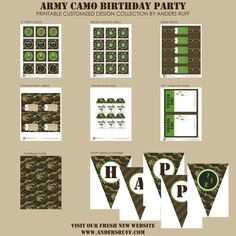 52 Best Army Birthday Printables images | Military party ...