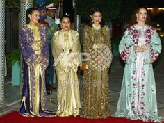 haute couture marocaine (takchita) portait des princesses de la famille royale marocaine  album.aufeminin.com