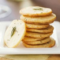 Asiago Wafers--nutty-tasting Italian cheese--happily pairs with fresh rosemary in this thin cracker recipe. Bake these wafers just before your guests arrive to welcome them with the enticing aroma.